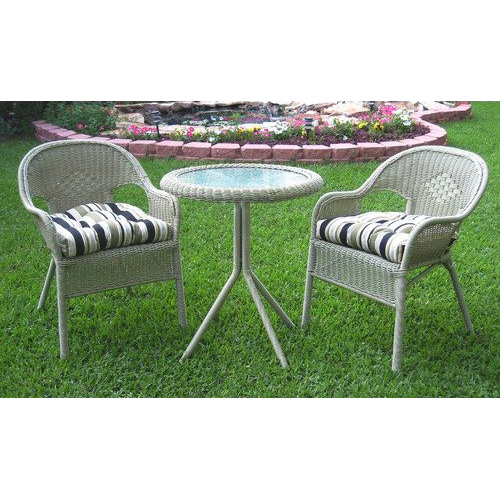 Somerset 3 Piece Wicker Resin Patio Bistro Set - INTC-3186