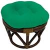 Wondrous Bali Rattan Papasan Ottoman Tufted Twill Cushion Machost Co Dining Chair Design Ideas Machostcouk