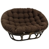 Bali Rattan Double Papasan Chair - Tufted, Twill Cushion - INTC-3304-TW