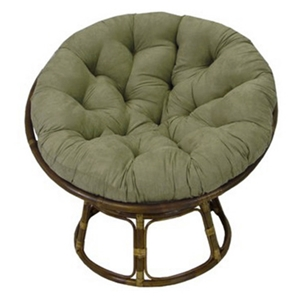 Ryoko Rattan Papasan Chair with Cushion