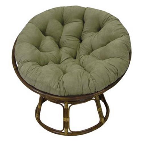Ryoko rattan papasan chair with cushion dcg stores for Black papasan chair cushion