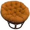 Bali Rattan Papasan Chair - Tufted, Outdoor Cushion, Solid - INTC-3312-REO-S