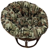 Bali Rattan Papasan Chair - Tufted, Tapestry Cushion - INTC-3312-T