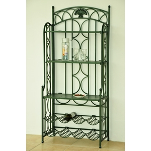 Chelsea Folding Baker%27s Rack with Wine Storage
