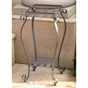 Mandalay Iron Square Plant Stand - Matte Brown