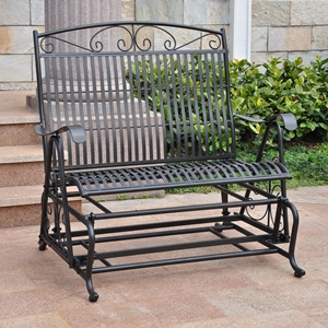 San Bruno Iron Porch Glider - Double