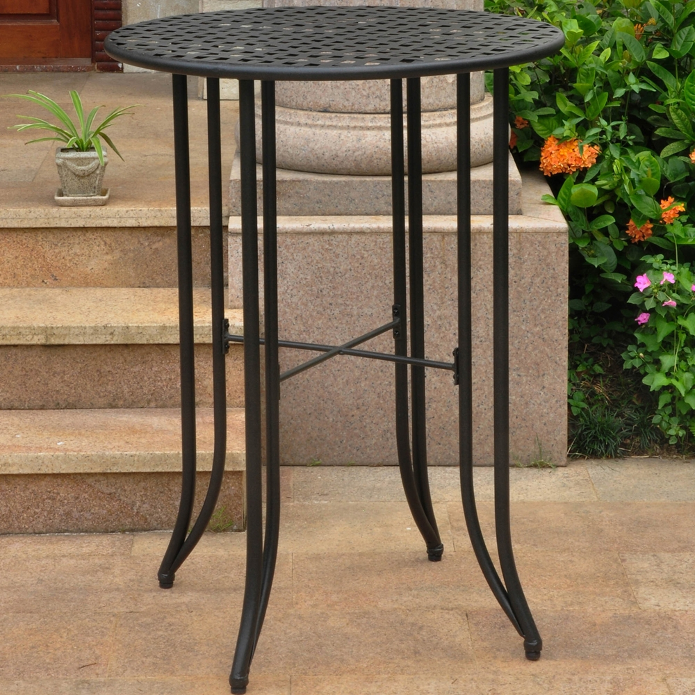 Mandalay Bar Height Wrought Iron Patio Table Dcg Stores