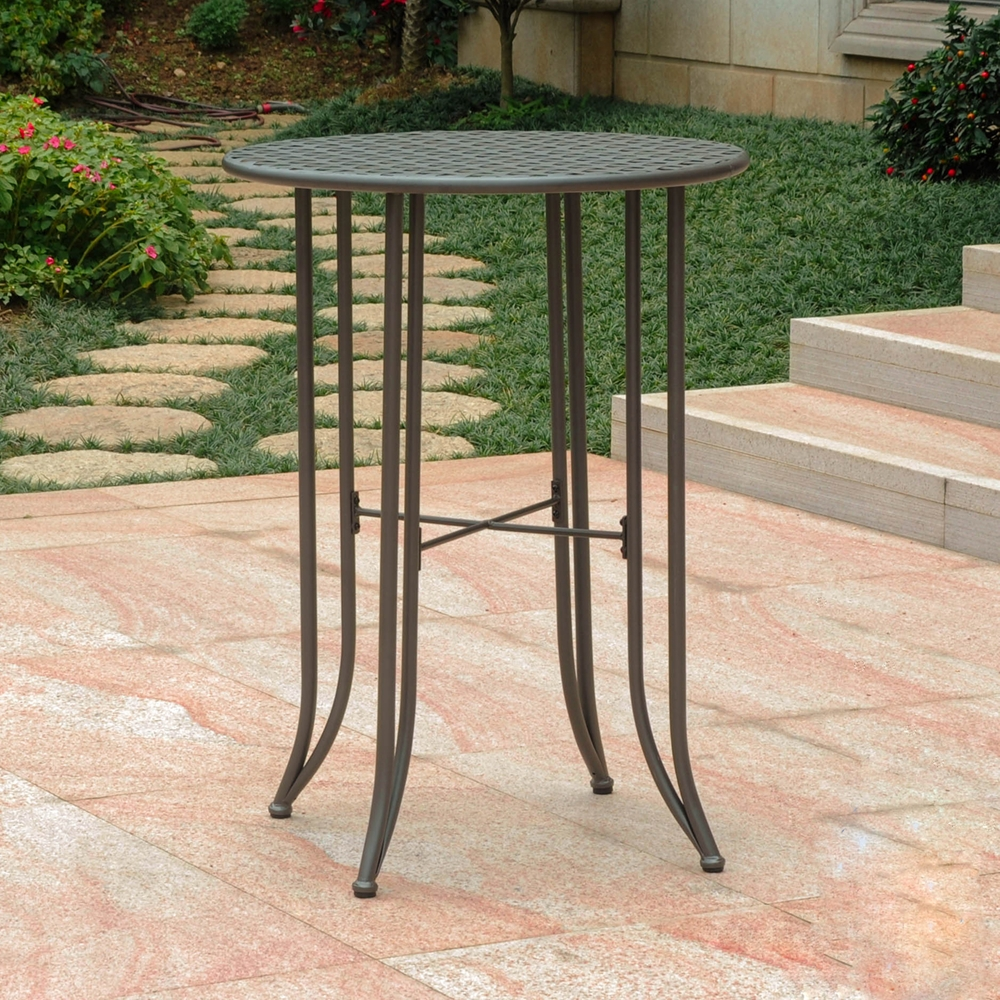 mandalay iron bar height patio table matte brown dcg