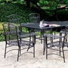 Tropico Wrought Iron 7 Piece Outdoor Dining Set - INTC-3494