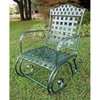 Milano Wrought Iron Patio Rocker Chair in Verdigris - INTC-3499
