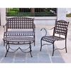 Santa Fe Patio Armchair - Wrought Iron, Rustic Brown (Set of 2) - INTC-3550-2CH