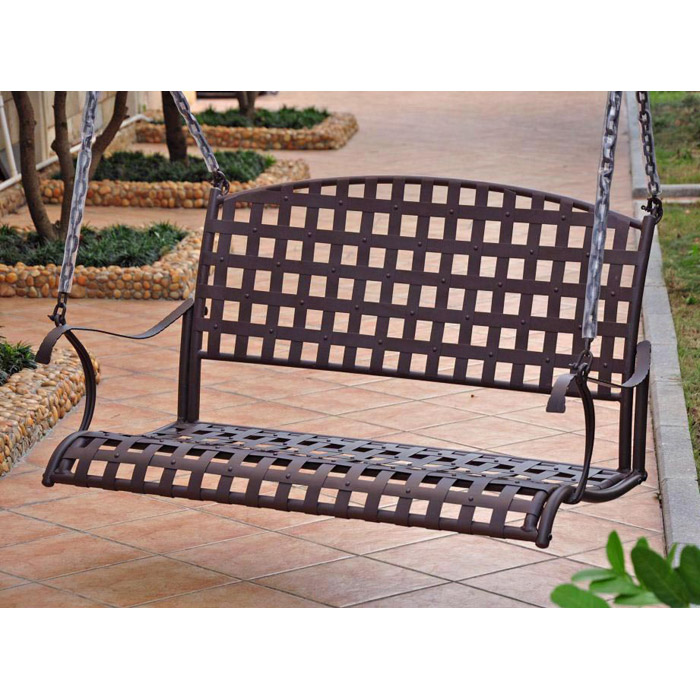 Santa Fe Wrought Iron Patio Swing - INTC-3557