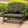 Santa Fe Iron Double Patio Glider in Dark Bronze - INTC-3566-DBL