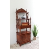 Victorian Bookcase with Cabinet - Carved Accents - INTC-3810