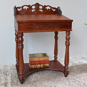 Windsor Wood Writing Desk - Mahogany Stain Finish