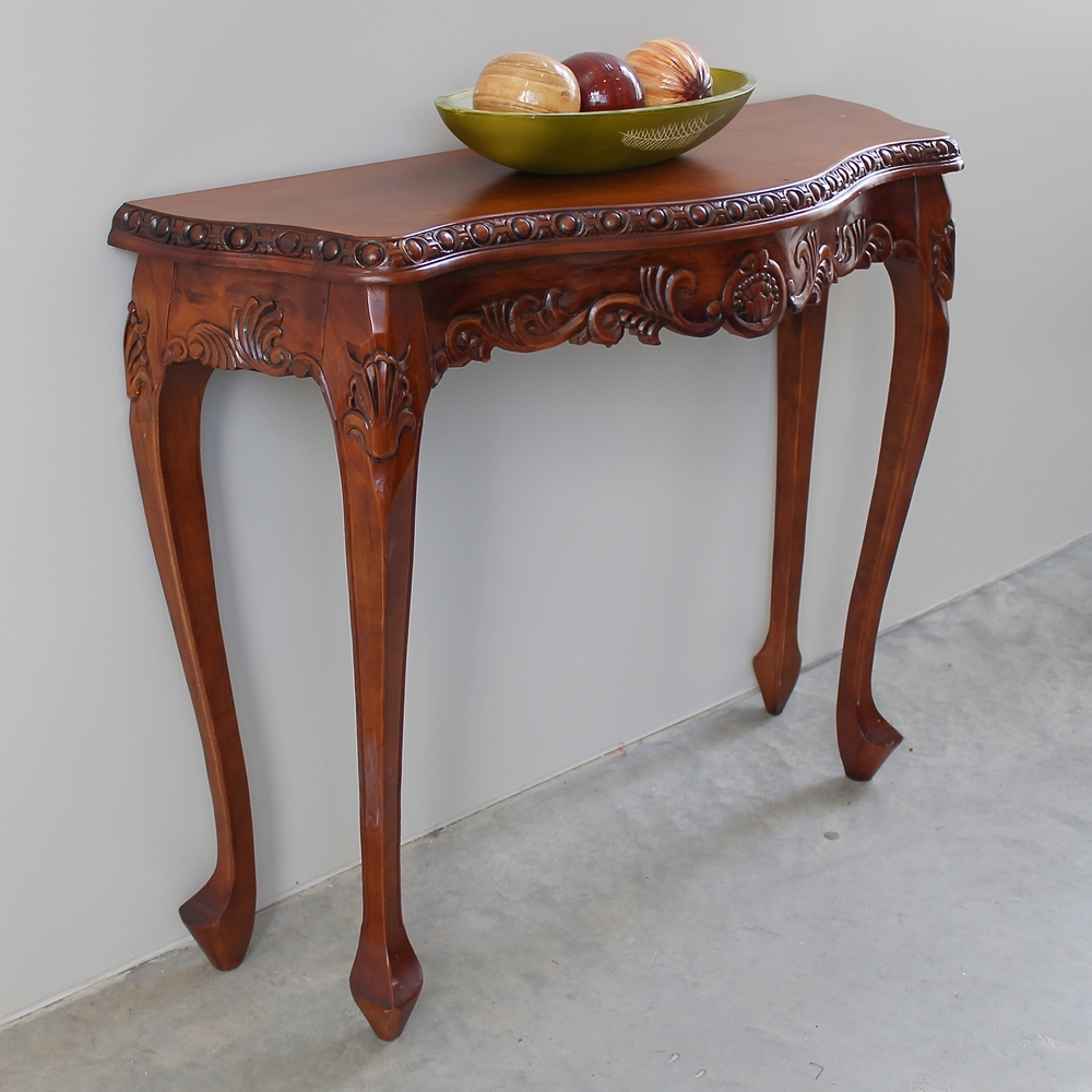 Windsor Wood Console Table Cabriole Legs Dcg Stores