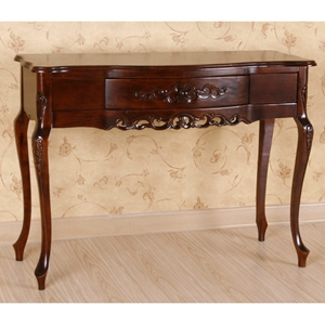 Windsor Wood Sofa Table - Mahogany Stain Finish, 1 Drawer