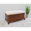 Windsor Cushioned Bench - Mahogany Stain Finish - INTC-3857
