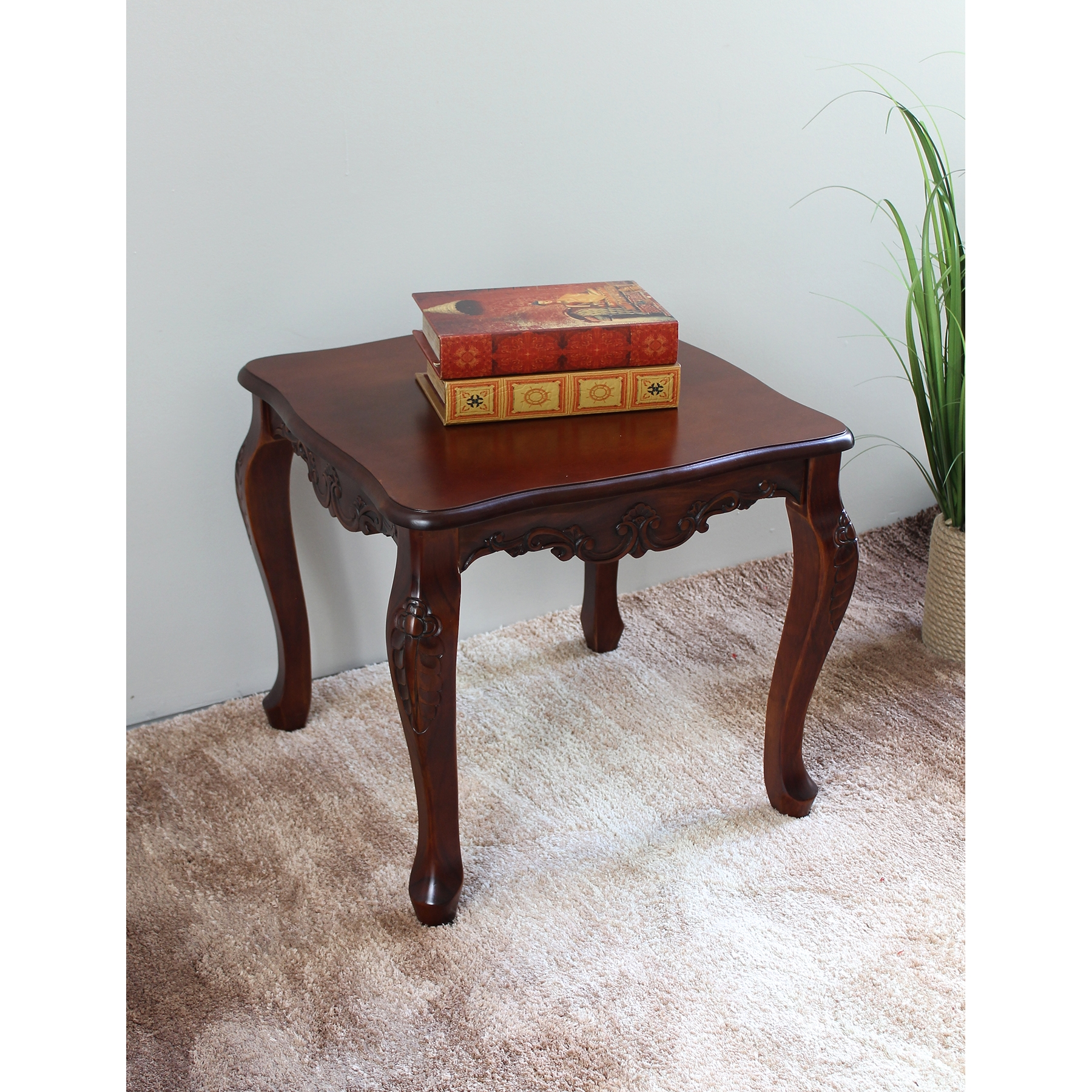Windsor Wood End Table   Queen Anne Style