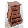 Windsor 5 Drawer Bombay Chest - Mahogany Stain Finish - INTC-3865-ST