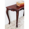 Windsor Handcarved Wood Sofa Table - Serpentine Top - INTC-3875