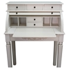 Antique White Rolltop Desk - 5 Drawers - INTC-3920-AW