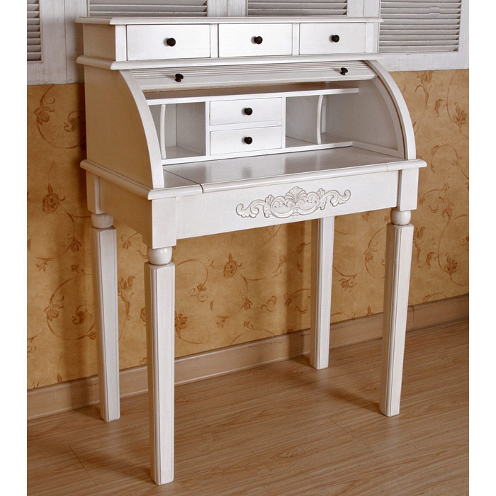 White Roll Top Desk Hostgarcia