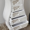 Antique White Bombay Chest - 5 Drawers - INTC-3965-AW