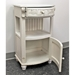 Antique White Telephone Stand - 1 Drawer - INTC-3973-AW