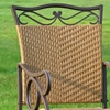 Wondrous Valencia Wrought Iron And Wicker Patio Rocker Chair Gmtry Best Dining Table And Chair Ideas Images Gmtryco