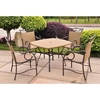 Valencia 5 Piece Wicker Patio Set in Dark Bronze - INTC-4105-S-5