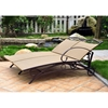 Valencia Wicker Double Outdoor Chaise Lounge - INTC-4111-DBL