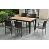 Barcelona Rectangular Dining Table - Chocolate Wicker - INTC-4200-TBL-CH