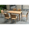 Barcelona Rectangular Dining Table - Honey Wicker - INTC-4200-TBL-HY