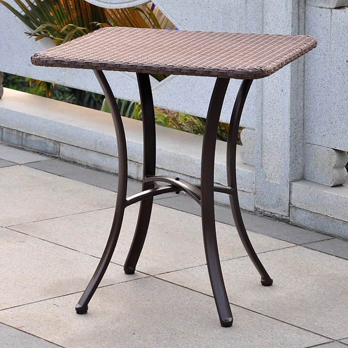 Barcelona Square Patio Bistro Table - Wicker - INTC-4205-SQ