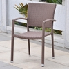 Barcelona Patio Chair - Stackable, Antique Brown Wicker (Set of 2) - INTC-4210-SQ-2CH-ABN