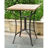 Barcelona Patio Bar Set - Square Table, Honey Wicker - INTC-4215-S-3-HY