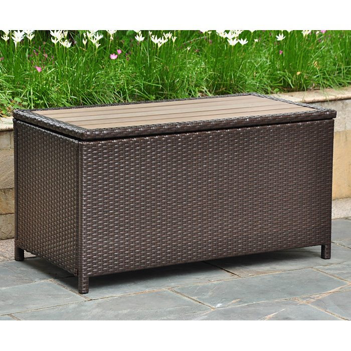 Barcelona Outdoor Trunk Coffee Table Chocolate Wicker DCG Stores