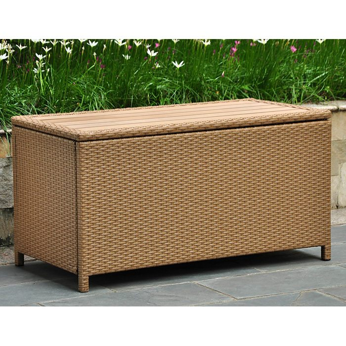 Barcelona Outdoor Trunk Coffee Table Honey Wicker Dcg Stores