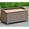Barcelona Outdoor Storage Trunk / Bench - Antique Brown Wicker - INTC-4221-ABN