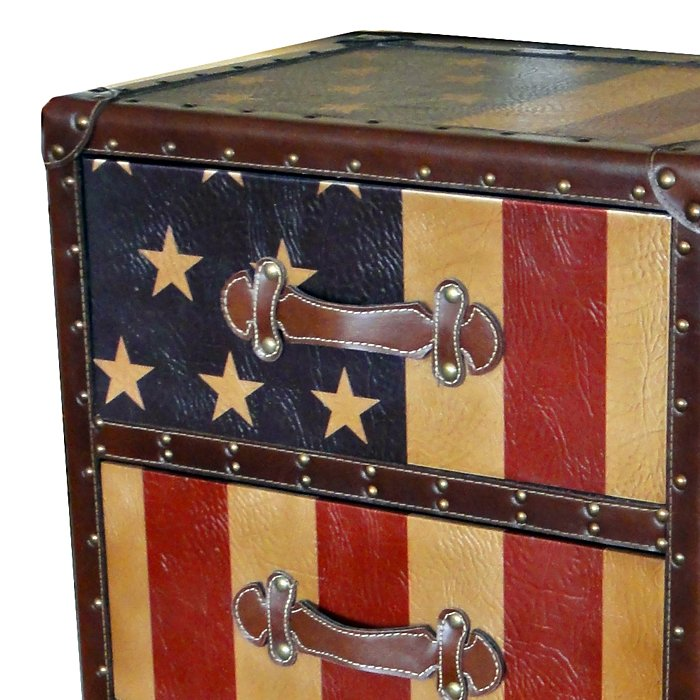 Old Glory Chest - 4 Drawers, Strap Handles - INTC-46B-10B357