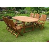 Royal Tahiti Alicante Patio Extension Dining Set - Folding Chairs - INTC-TT-OVE-017-FA-040-6CH