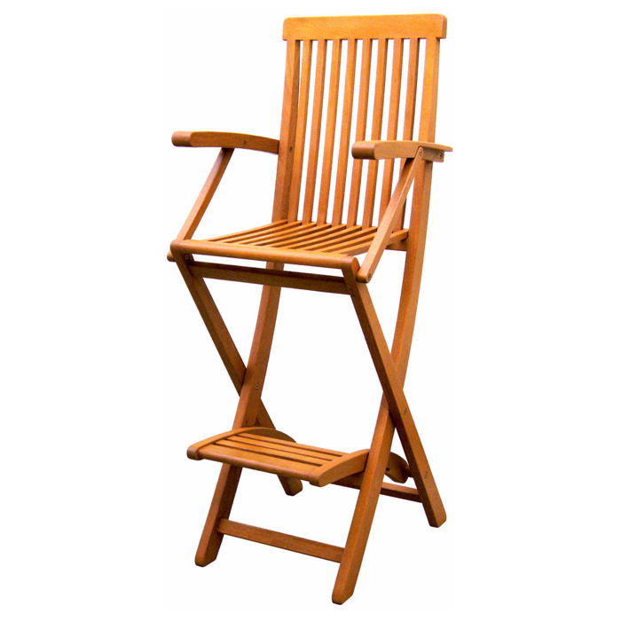 Royal Tahiti 30 Quot Folding Bar Stool Slatted Balau Wood