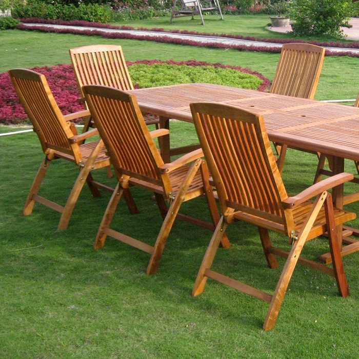 Royal Tahiti Cardena 9-Piece Patio Dining Set - Extension Table - INTC-TT-REE-126-PC-041-8CH