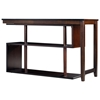 Virginia Wooden Desk & Shelf - Classic Espresso Finish - INTC-DF-104-CES