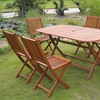 Royal Tahiti Galende Outdoor Dining Set - Folding Chairs - INTC-TT-RE-054-VN-0128-6CH