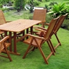 Royal Tahiti Granada Patio Dining Set - Folding Armchairs - INTC-TT-RE-007-PC-102-6CH