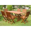 Royal Tahiti Merida 7-Piece Outdoor Dining Set - Folding Chairs - INTC-TT-RE-007-FA-040-6CH
