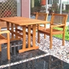 Royal Tahiti Montoro Wooden Patio Dining Set - Rectangular Table - INTC-TT-RE-007-1B-051-4CH