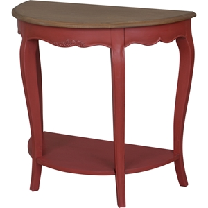 Ashbury Altesse Console Table - Half Moon, Antique Red